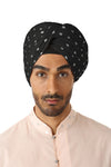 MAHA Metallic Hearts Turban - Front View - Harleen Kaur - Indian Menswear