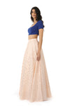 RIVA Classic Stretch Lengha Top - Side View - Harleen Kaur - Indowestern Womenswear