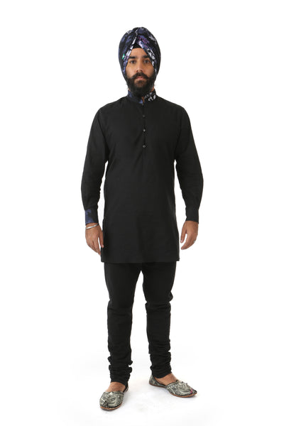 Harleen Kaur Mens JAG Black Cotton Pants with Pockets