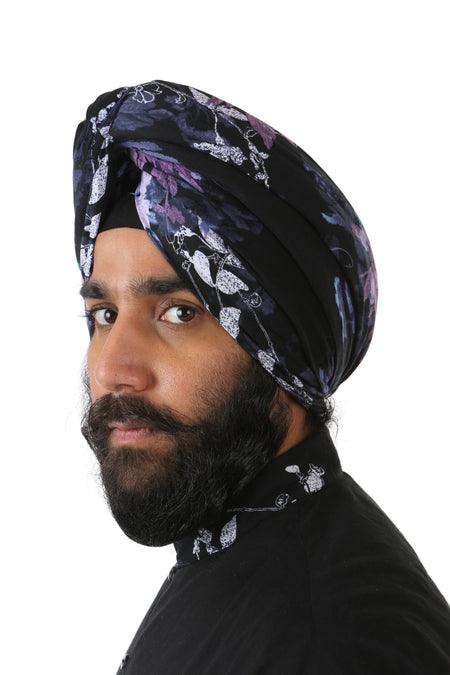 MAHA Foiled Cotton Turban