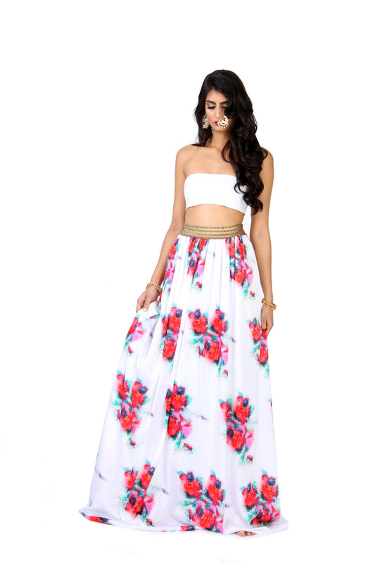 TANVI Floral Ease Skirt