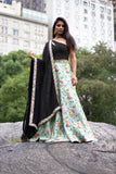 ZARI Crepe Lengha Top - Front View - Harleen Kaur - South Asian Womenswear