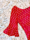 LOLA Foiled Cotton Dress - Detail View - Harleen Kaur Womenswear - Sample Sale