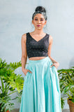 SONA Diamond Cotton Lengha Top - Front View - Harleen Kaur - South Asian Womenswear