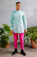 JEET Diamond Cotton Kurta Shirt - Front View - Harleen Kaur - Indian Menswear