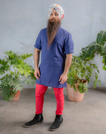 JEEVAN Red Cotton Pant - Front View - Harleen Kaur - Ecoconscious Menswear