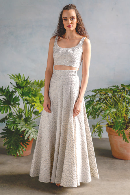 LAYLA Embroidered Eyelet Skirt