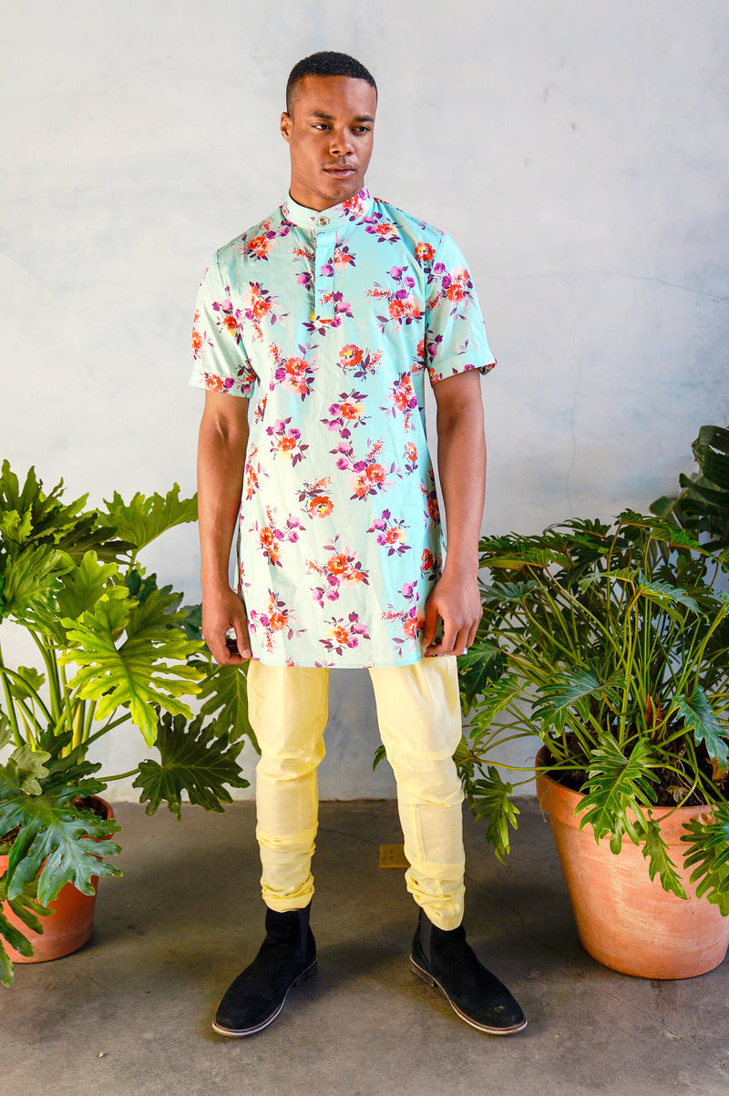 RAYMAN Marigold Kurta Shirt - Front View - Harleen Kaur - South Asian Menswear
