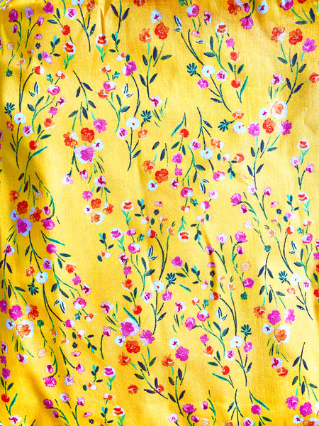 Kids Face Mask in Yellow Floral Print - Harleen Kaur