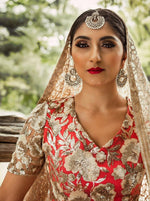 SANYA Sequin Embroidered Top - Front View - Harleen Kaur Womenswear - Sample Sale