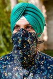 Floral Face Mask for Beard - Front View - Harleen Kaur - South Asian Menswear