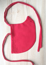 Sold Red Reusable Cloth Face Mask with Drawstring - Side View - Harleen Kaur Menswear
