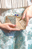 NINA Gold Sea Clutch