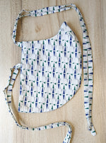 Geometric Print Cotton Face Mask for Beard - Side View -  Harleen Kaur