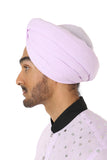 Harleen Kaur Maha Cotton Pagh in Lavender - Side View