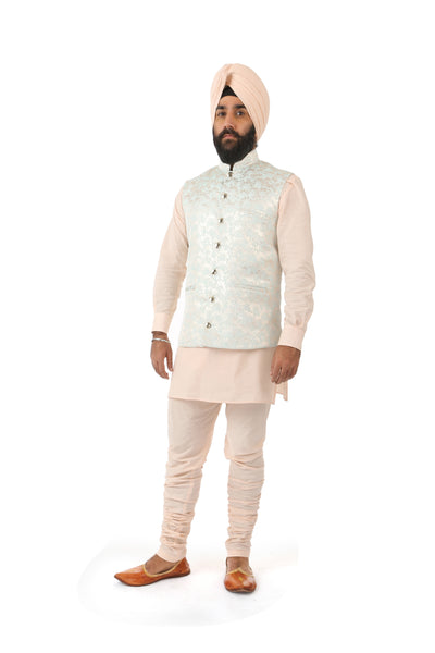 Harleen Kaur Mens JAG Peach Cotton Pants with Pockets