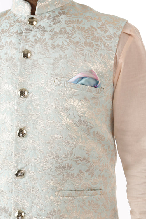 Harleen Kaur Pana Satin Pocket Square in Floral Print