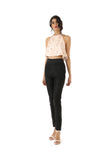 NOOP Black Silk Pants | HARLEEN KAUR