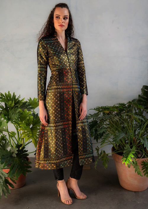 RANI Geo Jacquard Jacket Dress
