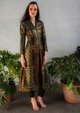 RANI Geometric Jacquard Jacket Dress - Front View - Harleen Kaur - Indowestern Womenswear