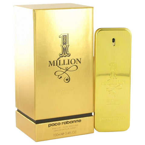 1 Million Absolutely Gold by Paco Rabanne Pure Perfume Spray 3.3 oz (Men)