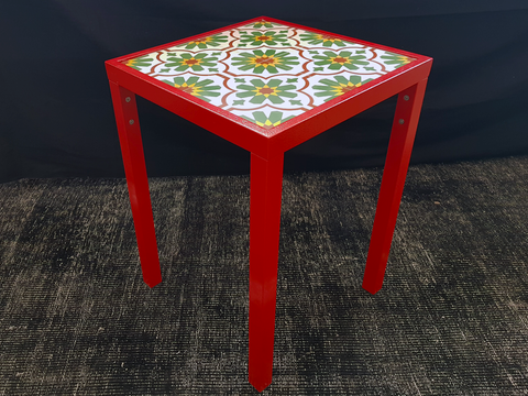 Side Table (Tropical Palm Tile)