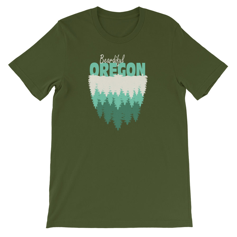 Beardiful® Oregon Short-Sleeve Unisex T-Shirt