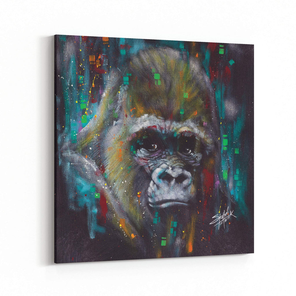 Albert Gorilla by Stephen Fishwick Canvas Art