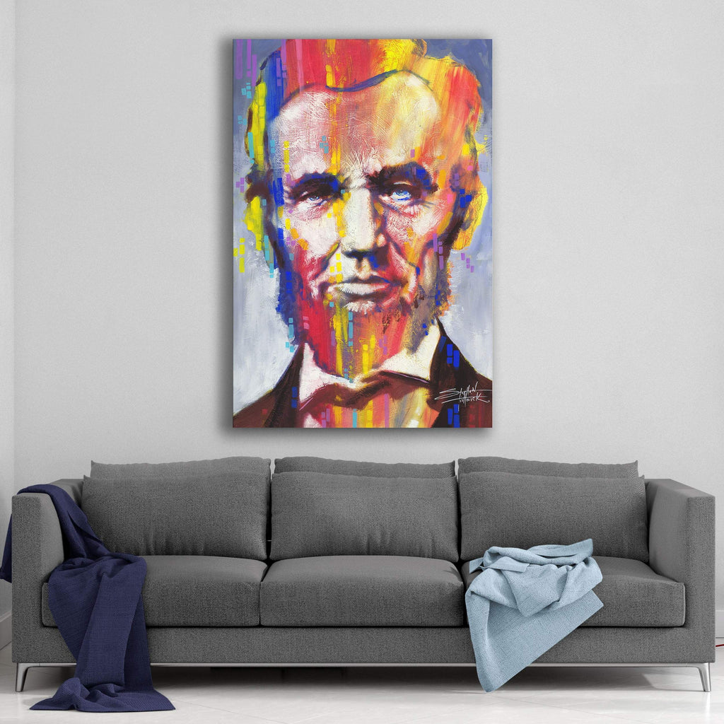 Abe Lincoln by Stephen Fishwick Canvas Art