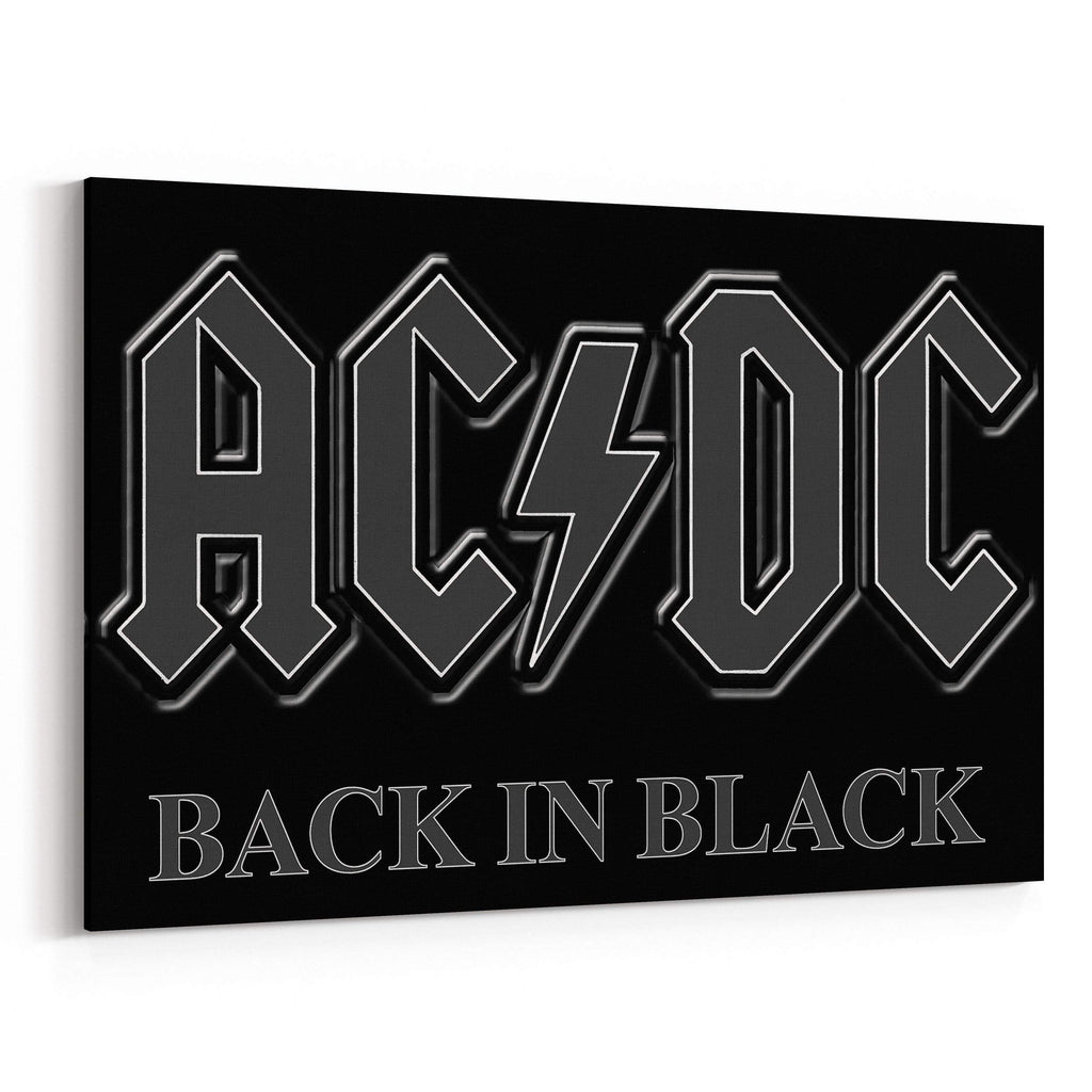 AC/DC Back in Black Canvas Art