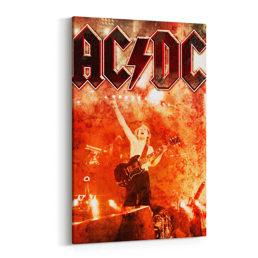 AC/DC Burning Red Canvas Art