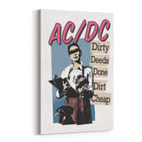 AC/DC Dirty Deeds Canvas Art