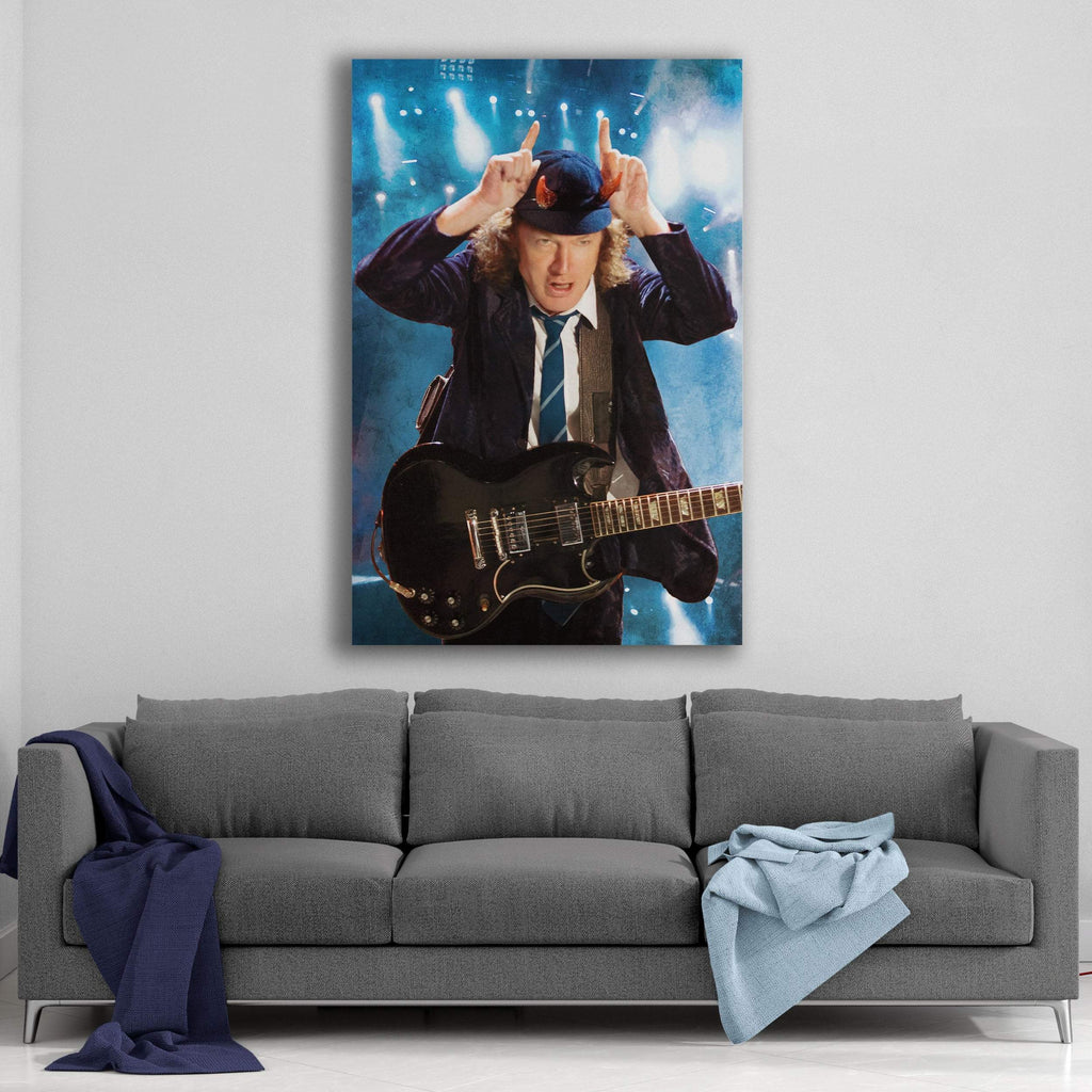 AC/DC Horns Canvas Art