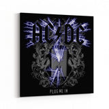 AC/DC Plug Me In Canvas Art