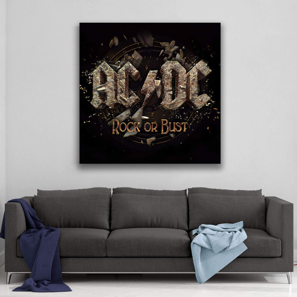 AC/DC Rock Or Bust Cover Canvas Art