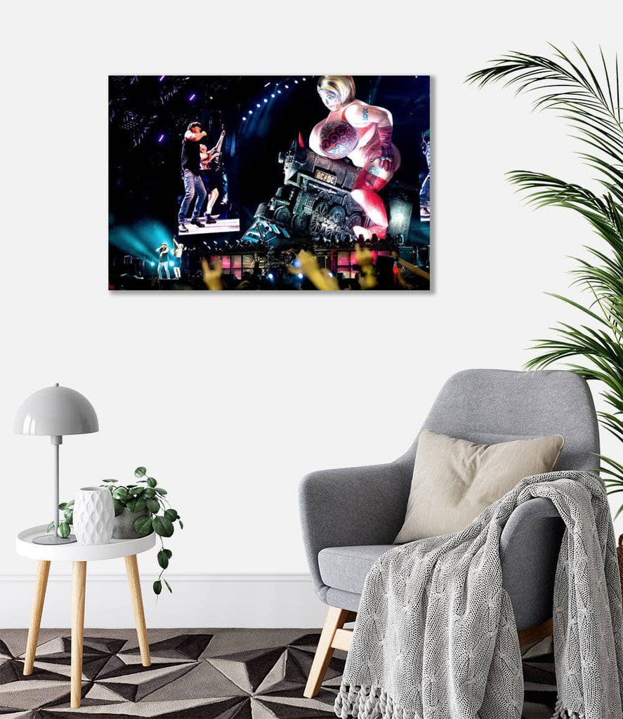 Canvas AC/DC We Are On the Rock N Roll Train Canvas Art