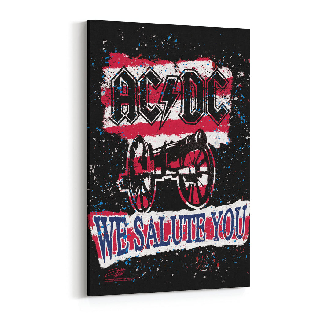 AC/DC We Salute You Stripe by Stephen Fishwick Canvas Art
