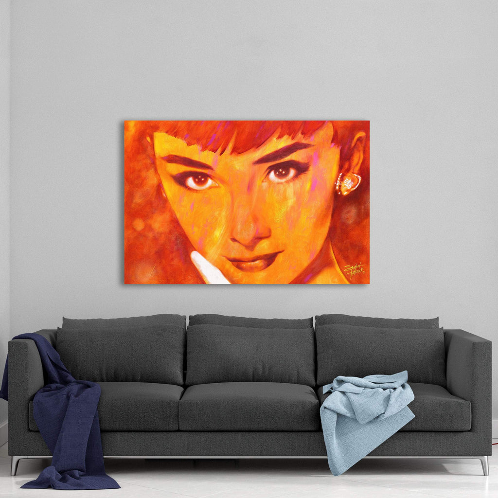 Audrey Hepburn Audrey Too by Stephen Fishwick Canvas Art