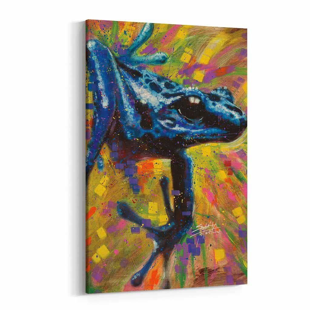 Blue Dart Lizard by Stephen Fishwick Canvas Art