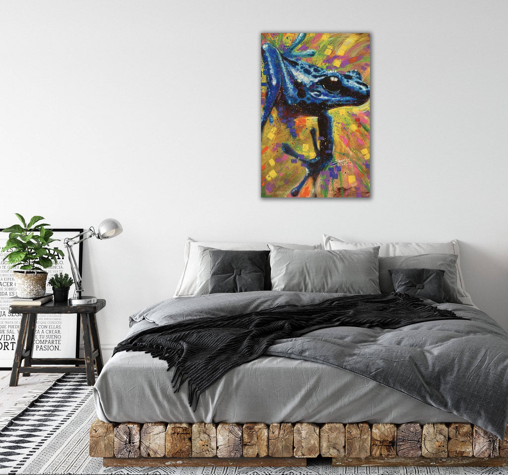 Canvas Blue Dart Lizard by Stephen Fishwick Canvas Art