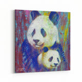 Close in Color Pandas by Stephen Fishwick Canvas Art