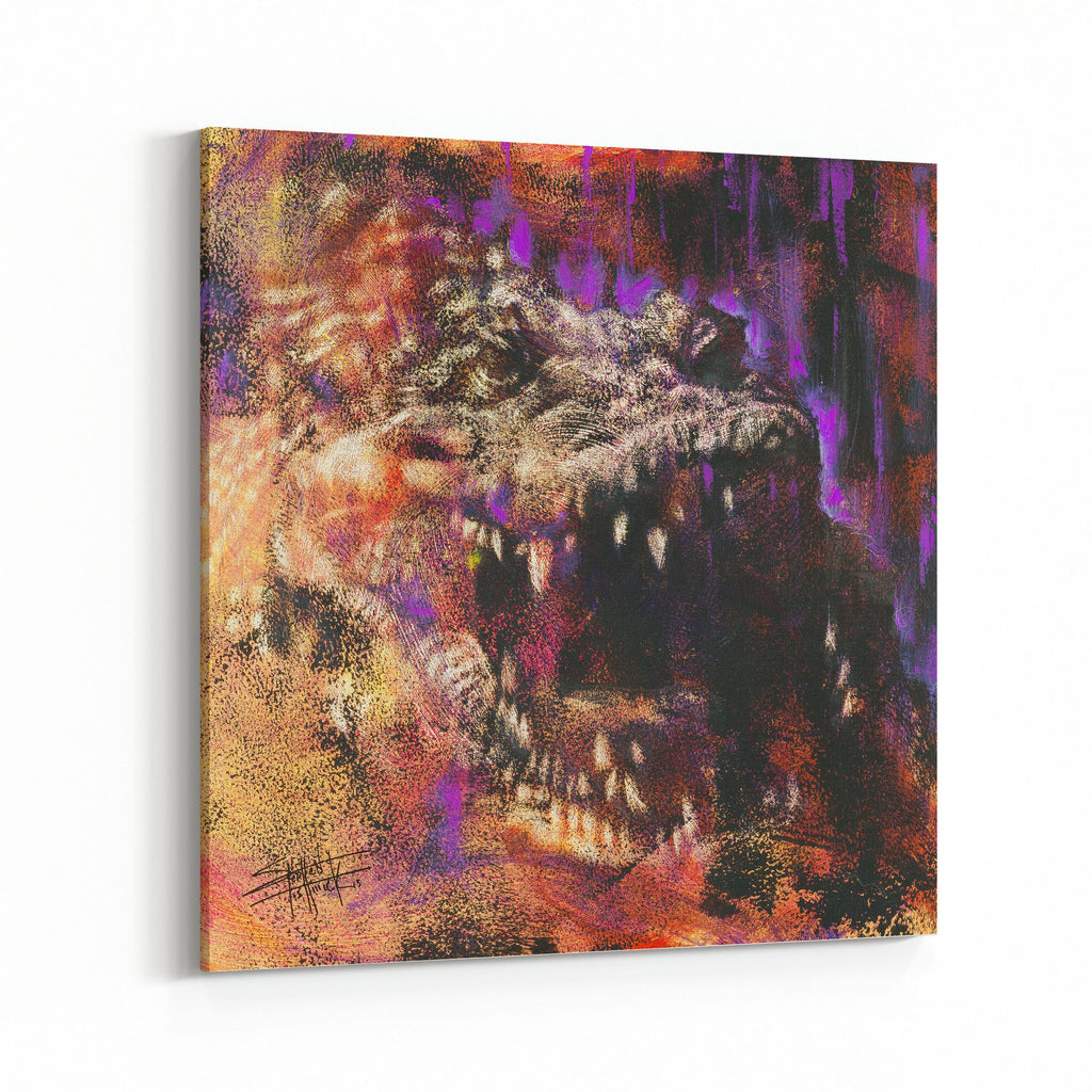 Crocodile by Stephen Fishwick Canvas Art