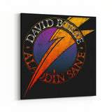 David Bowie Aladdin Sane Bolt Canvas Art