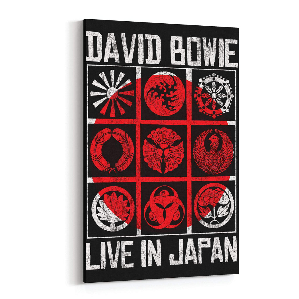 David Bowie Live in Japan Canvas Art