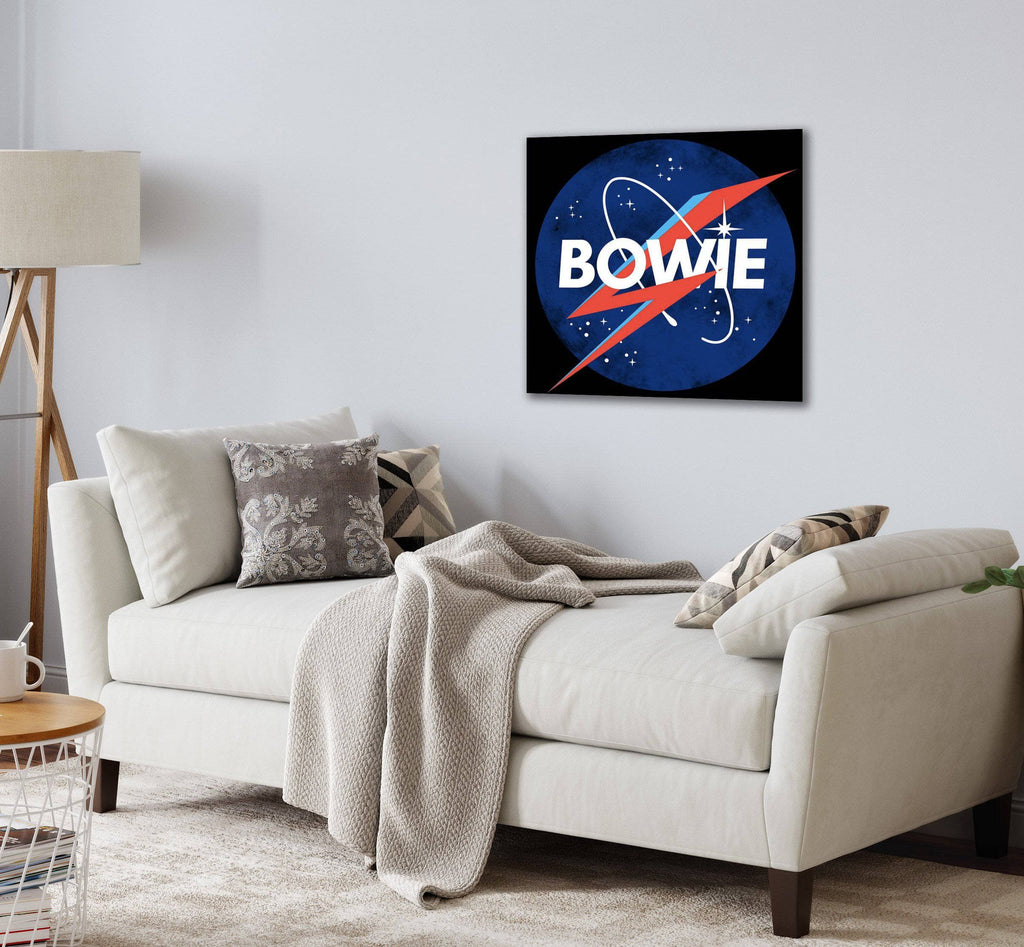 Canvas David Bowie Space Logo Canvas Art