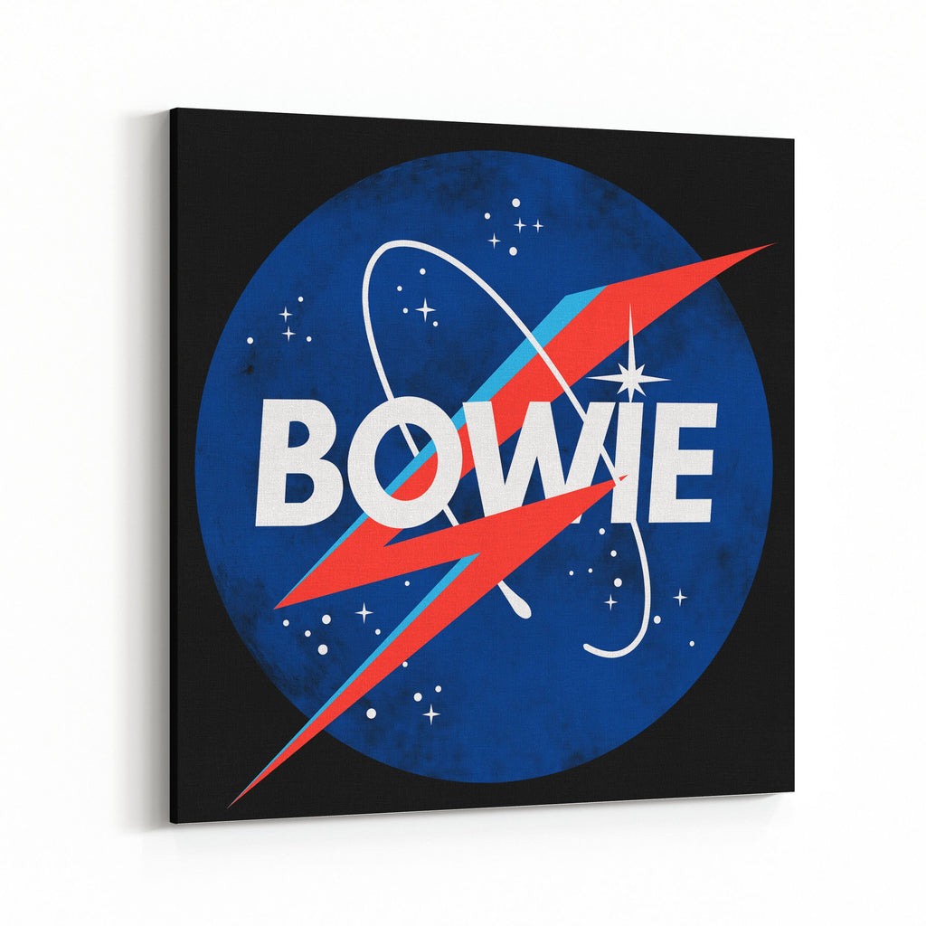 David Bowie Space Logo Canvas Art