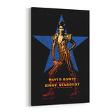 David Bowie Ziggy with Star Canvas Art