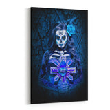 Day of the Dead Azul By Daveed Benito Canvas Art