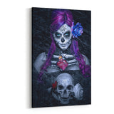 Day of the Dead Blues By Daveed Benito Canvas Art