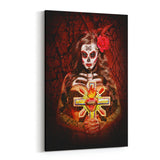 Day of the Dead Burning Desire By Daveed Benito Canvas Art